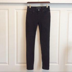 """Calvin Klein Black """"Ultimate Skinny"""" Stretch Jean"""
